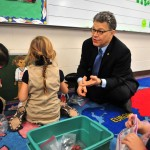 Sen. Al Franken plays with preschoolers