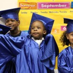 Four friends graduating from Kindergarten
